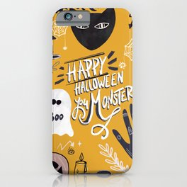 Halloween Wall Art Original Illustration - Fun Gift Idea iPhone Case