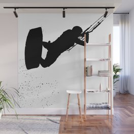 Up Up And Away Kiteboarder Silhouette Wall Mural