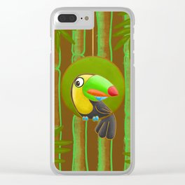 Shy Toucan! Clear iPhone Case