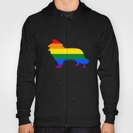 Rainbow Border Collie Hoody