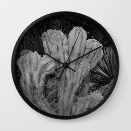 Cactus - BW Photography Wall Clock