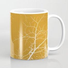 Branches Impressions on Yellow Coffee Mug