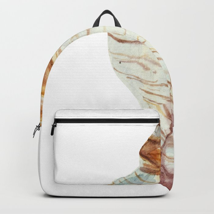 White Large Shell Backpack