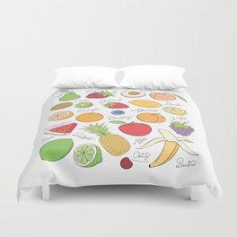 Fruit Doodles Duvet Cover