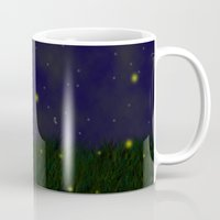 fireflies Mugs featuring Fireflies by Nova Jarvis