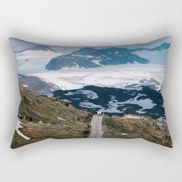 Caravan along a mountain road in Norway - Landscape Photography Rectangular Pillow