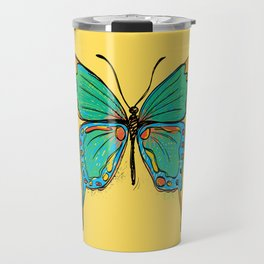 Simple Colorful Butterfly Travel Mug
