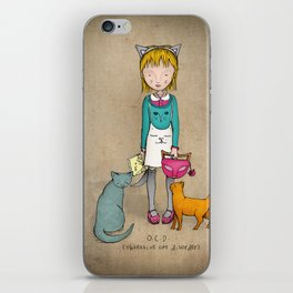 OCD - Obsessive Cat Disorder - Crazy Cat Lady iPhone Skin