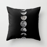 Throw Pillows featuring Phases of the Moon by Efty