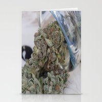 medical Stationery Cards featuring Silver Afghan Medical Marijuana by BudProducts.us