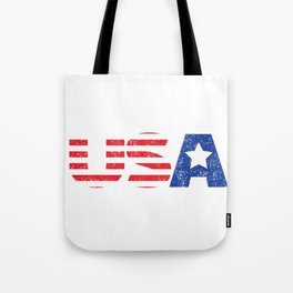 Patriotic USA Flag Stars and Stripes  graphic Tote Bag