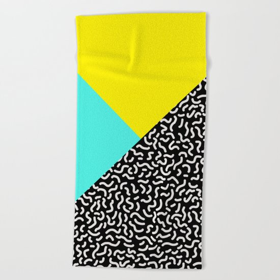 Memphis pattern 27 Beach Towel