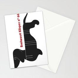 Bratwurst Körper  Stationery Cards