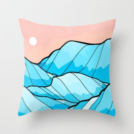 The hill waves Throw Pillow