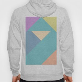 colorful triangular pastel background Hoody