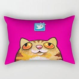 Cat love twitter bir fucsia Rectangular Pillow