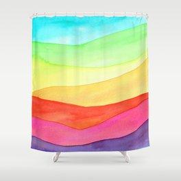 Rainbow hills Shower Curtain