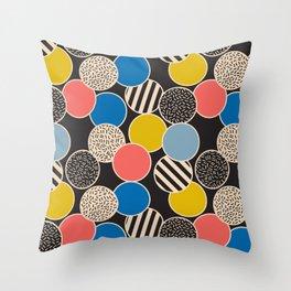Memphis Inspired Pattern 6 Throw Pillow