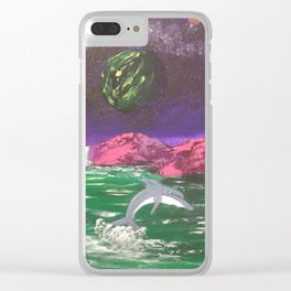 Dolphins cove Clear iPhone Case