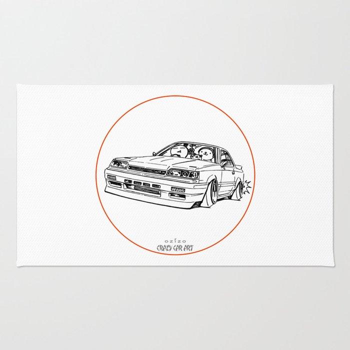 Crazy Car Art  Rug