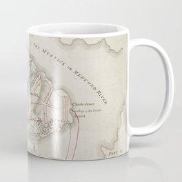 Vintage Battle of Bunker Hill Map (1775) Coffee Mug