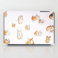 water colour iPad Cases featuring Water-colour Cats by Jessy Belanger