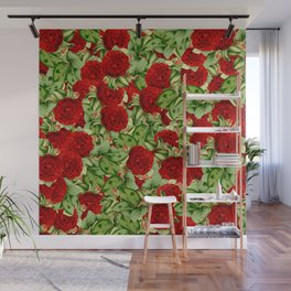 Painting the Roses Red Wall Mural