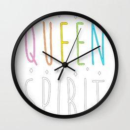 SMELLS LIKE QUEEN SPIRIT - PARODY T-SHIRT Wall Clock