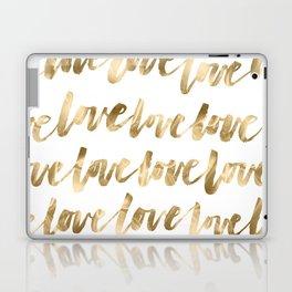 Gold Love Laptop & iPad Skin