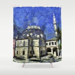 Istanbul Mosque Van Gogh Shower Curtain