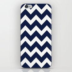 Indigo Navy Blue Chevron iPhone Skin