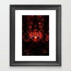 DOOM5-GAMEFONT Framed Art Print