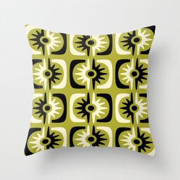 Mid Century Modern Big Bang 5 Throw Pillow