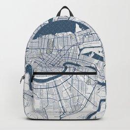New Orleans City Map of Louisiana, USA - Coastal Backpack
