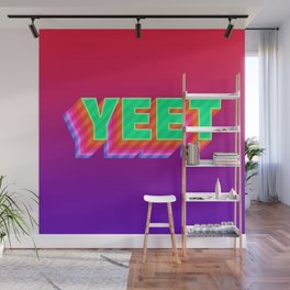 YEET Meme Colorful Typography Wall Mural