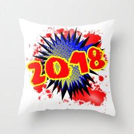 2018 Comic Exclamation Throw Pillow