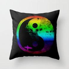 surfin v2 rainbow version Throw Pillow