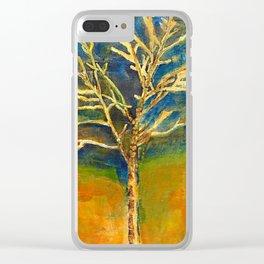 Golden Birch Clear iPhone Case