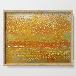 Landscape Dots - Orange Serving Tray