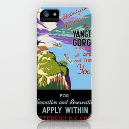 Vintage poster - Yangtsze Gorges iPhone Case