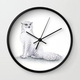 Snowy Fowl II Wall Clock
