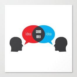 Idea+Idea=Good Idea Canvas Print