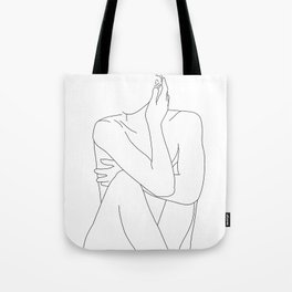 Nude life drawing figure - Celina Tote Bag