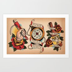 Pop-punk Tattoo Flash Art Print