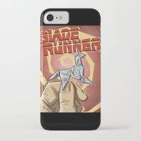 blade runner iPhone & iPod Cases featuring Blade Runner   by Joe Badon