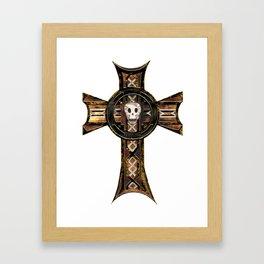 Celtic Cross With Skull Framed Art Print