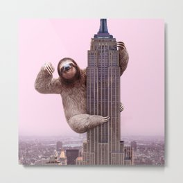 KING SLOTH Metal Print