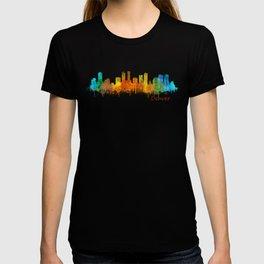 Denver Colorado City Watercolor Skyline Hq v2 T-shirt