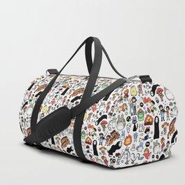 Kawaii Ghibli Doodle Duffle Bag