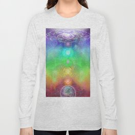 Chakra Activation Geometry Template Long Sleeve T-shirt